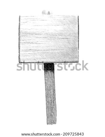 mono blank sign  --  illustration - stock photo