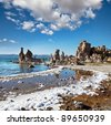 Mono lake formations - stock photo