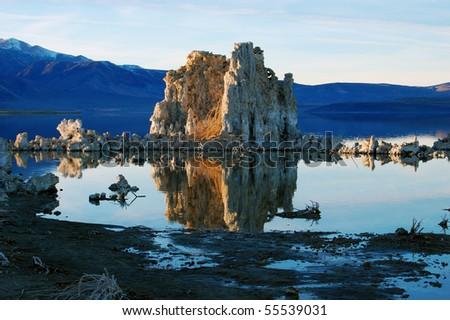 Mono Lake Tufa - stock photo