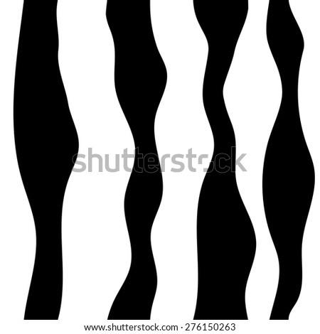Monochrome abstract pattern. Wavy lines background. Seamless pattern can be copied without any seams. raster version - stock photo