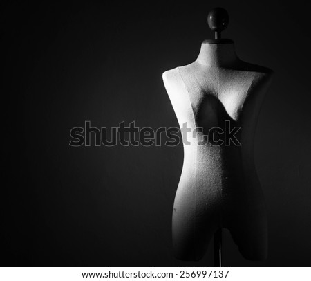 Monochrome Clothing mannequin - stock photo