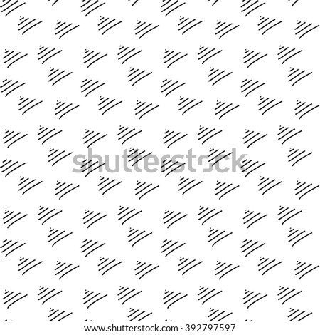 Monochrome elegant seamless pattern in black and white. Seamless geometric pattern. Mathematical abstract seamless pattern. - stock photo