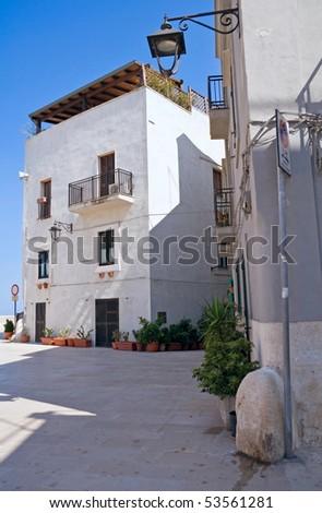 Monopoli Oldtown. Apulia. - stock photo
