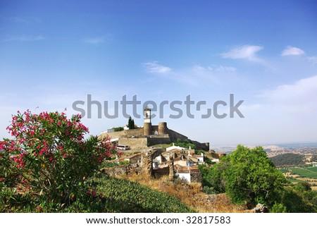 Monsaraz old village at Portugal. - stock photo