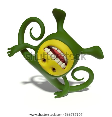 Monster acrobat - stock photo