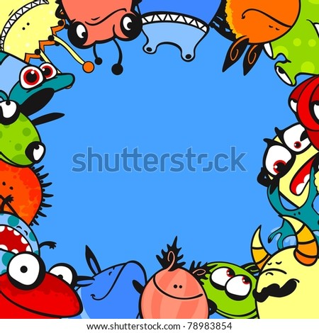 Monster frame (raster version) - stock photo