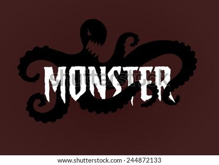 monster icon - stock photo