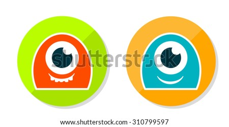 Monsters Icon - stock photo