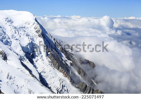 Mont Blanc alps view - stock photo