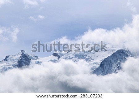 Mont Blanc, Chamonix, French Alps, France. - stock photo