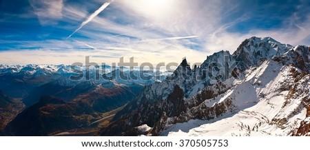 Mont Blanc, Courmayeur, Italy - stock photo