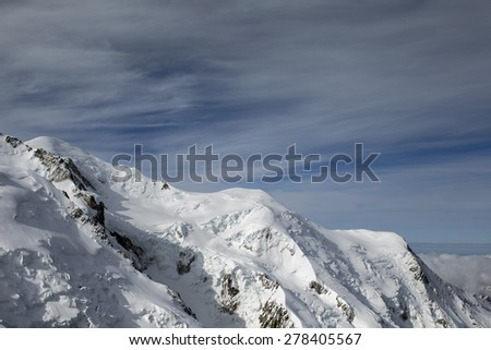 mont blanc in the french alps - stock photo