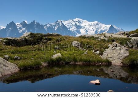 Mont Blanc panorama - stock photo