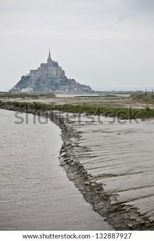 Mont Saint-Michel, Bretagne, France - stock photo