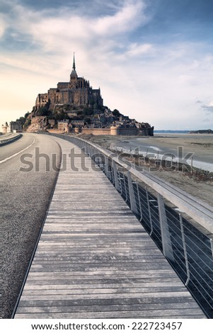 Mont saint Michel in Normandy, France - stock photo
