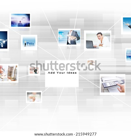 Montage of Business Concepts Background - stock photo