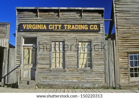 MONTANA - CIRCA 2000's: Virginia City Trading Co., MT - stock photo