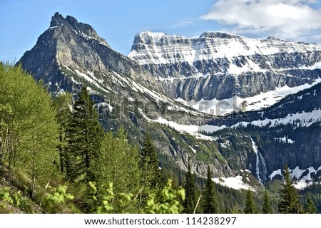 Montana's Glaciers. Northern Rocky Mountains, Montana, USA. Mountains Photography Collection. - stock photo