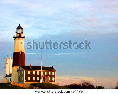 Montauk Montauk Point Lighhouse (Photo 3 of 5) - stock photo