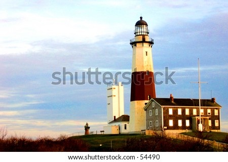 Montauk Point Lighhouse (Photo 4 of 5) - stock photo