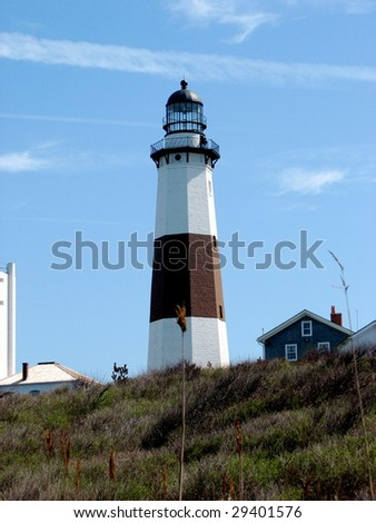 Montauk Point Lighthouse - stock photo