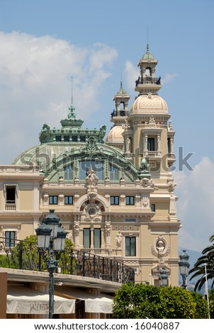 Monte Carlo Casino in Monaco - stock photo