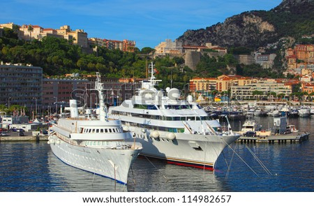 Monte Carlo cityscape, Monaco - stock photo