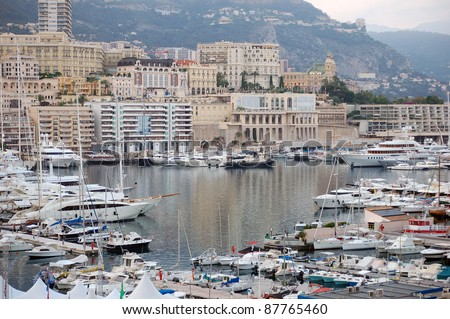 Monte Carlo harbor. Monaco bay. - stock photo