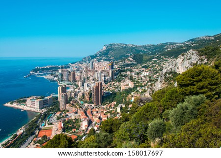 Monte Carlo view on summer day - stock photo