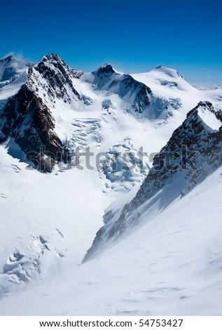 Monte Rosa peaks (4634 m) - stock photo