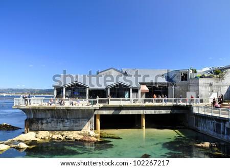 Monterey bay aquarium building - stock photo