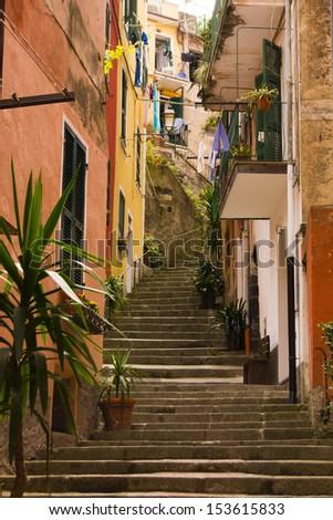 Monterosso al Mare, province of La Spezia, part of the region of Liguria, Italy. It is one of the five villages in Cinque Terre.  - stock photo