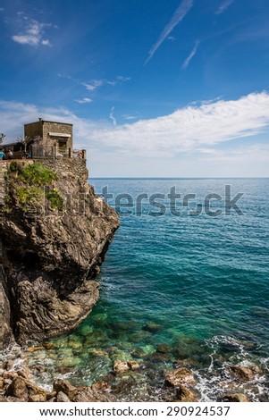 Monterosso al Mare sea coast, Cinque Terre, Italy - stock photo