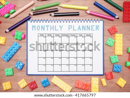 monthly planner - stock photo
