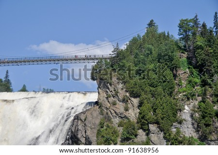 Montmorency Falls, near Quebec city, Canada - stock photo