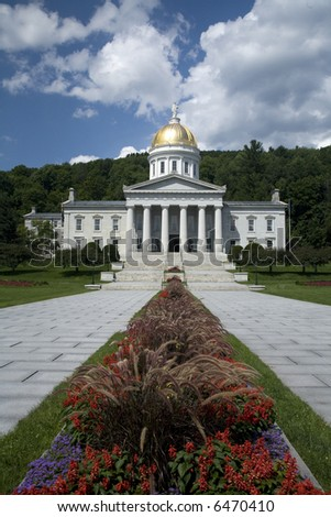 montpelier state house - stock photo
