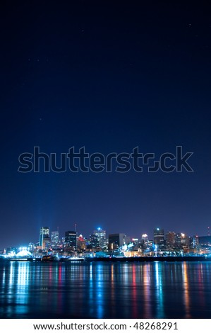 Montreal and the St-Lawrence river - stock photo