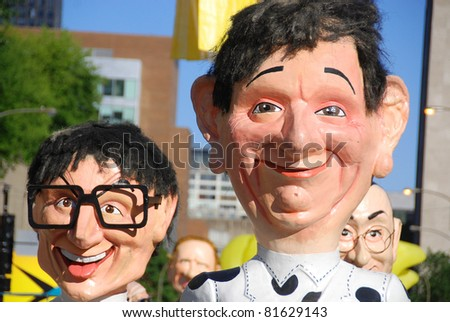 MONTREAL-CANADA JULY 25 Grosses têtes/Big heads, Just For Laughs Festival/ Festival Juste Pour rire on July 25 2011in Montreal Canada.Is a comedy festival held each July in Montreal, Quebec - stock photo