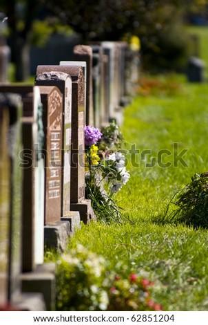 Montreal cemetery - stock photo