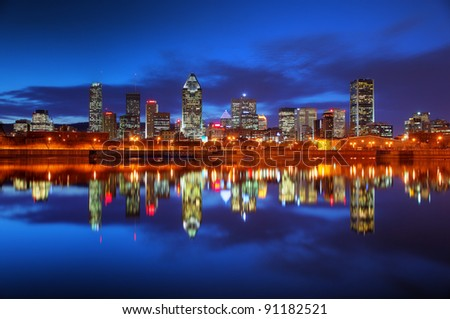 Montreal City at Sunset - stock photo