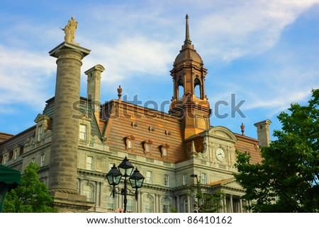 Montreal city Hall in old Montreal, Canada - stock photo