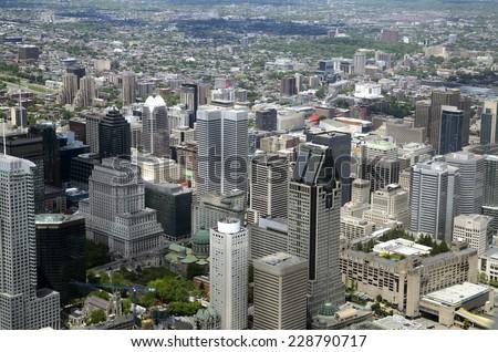 Montreal downtown - stock photo