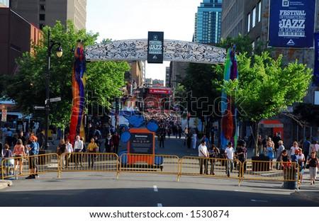 Montreal International Jazz Festival - stock photo