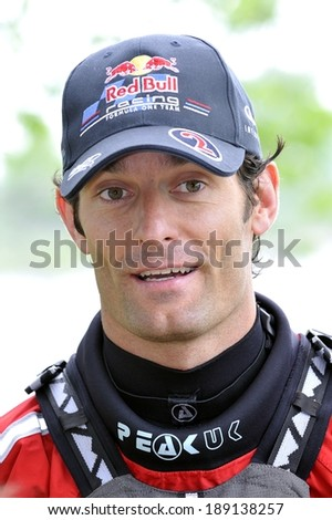 MONTREAL - JUNE 8: The Australian Formula 1 Driver Mark Webber meets the medias during the Montreal Grand Prix 2011, on June 8, 2011 in Montreal, Quebec, Canada. - stock photo