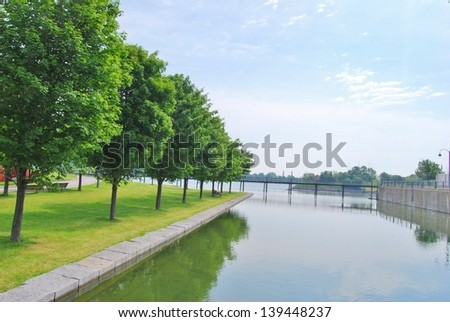 Montreal Park Waterfront, Canada - stock photo