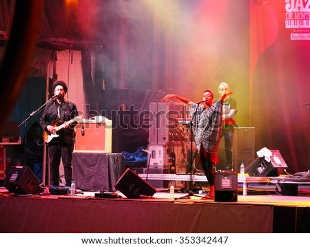 Montreal Quebec Canada - June 30 2014 - Israeli Ester Rada Jazz Festival International music concert Rio Tinto Alcan stage . popular female  singer from Israel - stock photo