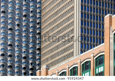 Montreal's buildings - stock photo