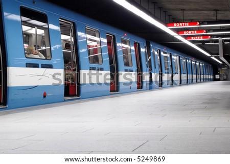 Montreal's Metro - stock photo