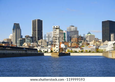 Montreal skyline - stock photo
