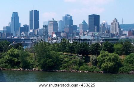 Montreal Skyline Downtown - stock photo